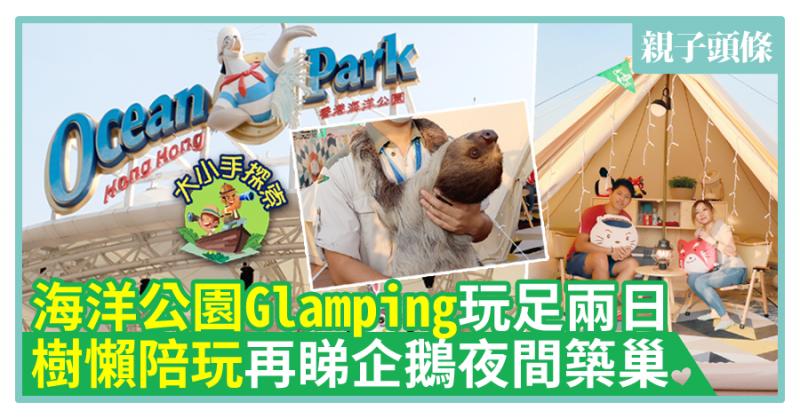 【大小手探索】海洋公園Glamping玩足兩日 樹懶陪玩再睇企鵝夜間築巢